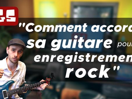 Comment accorder sa guitare dans le cadre d'un enregistrement rock