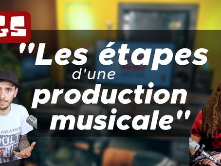 Les étapes d'une production musicale