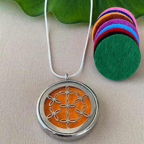 Colar Aromaterapia Mandala Flor