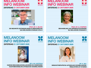 Videoregistratie Melanoom Info Webinar 31 oktober 2020 beschikbaar