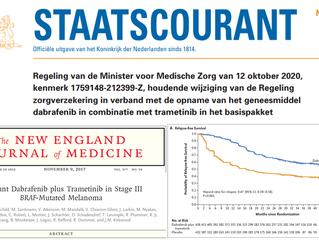 Nieuwe adjuvante behandeling beschikbaar voor melanoompatiënten met een BRAF-status