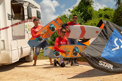 kite board rental / 6 days / Location de planche de kite 6 jours