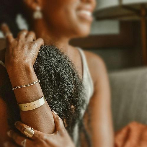 """Tiana"" | Tapered Brass Cuff | Personalized Bracelet"