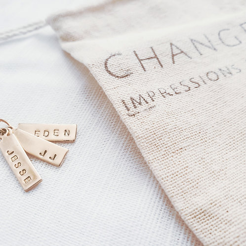 Personalize | Premium Brass | Initial Tag Chain
