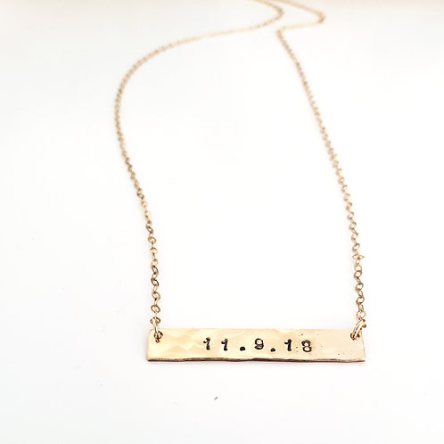 Personalize | 14k Gold-Filled | Nameplate Bar Chain