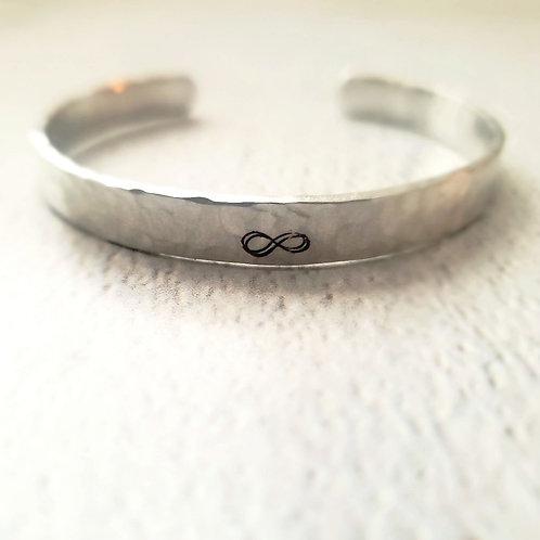 """Serenity"" | Aluminum Cuff | Personalized Bracelet"