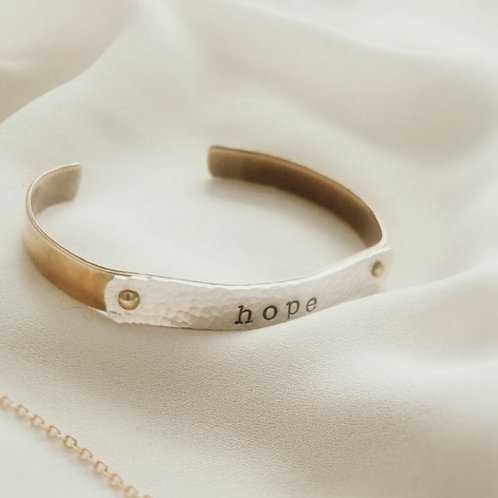 Personalize | Sterling Silver on Brass | Rivet Cuff Bracelet