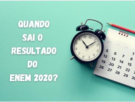 Enem 2020 divulgará notas: Veja data e onde acessar.