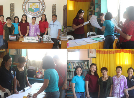 National nan Probinsyal Librarians Nagbisita Sa Sta. Magdalena Public Library