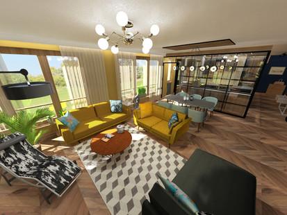 Modern családi nappali