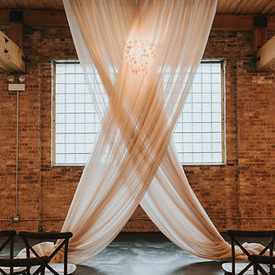 Unique altar design for this loft wedding at Brique in Chicago. Wedding planned by top wddng planner, Megan Estrada.