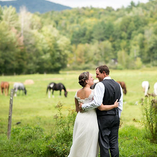 Bride and Groom portrat in Stowe, vermont.  Event Planner by Megan Estrada, Weddng Planner Chicago