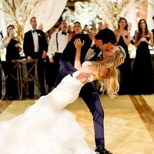 Danielle Weisberg of theskimm.com wedding firs dance.  Wedding planned by Megan Estrada, wedding planner chicago