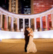 Bride and Groom at Wrigley Square by Chiago Cultural Center