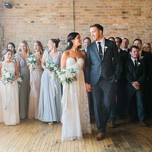 Brial party wih bride and groom at Salvage One.  Wedding planning by Megan Estrad with North Shore Weddings & Events a Chicago Wedding Planner