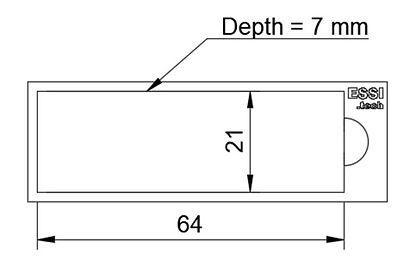 Dimensions of Essi microfluidic mold