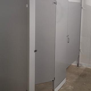 Bathroom Partition Install