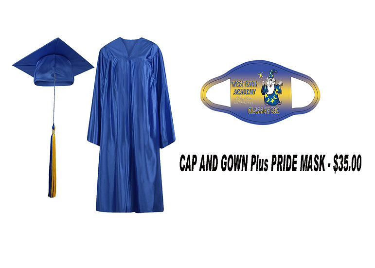 Cap and Gown Plus Pride Mask