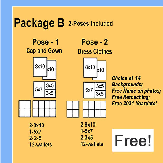 FREE CAP AND GOWN PACKAGE FROM YOUR SCHOOL!