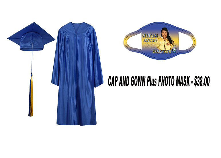 Cap and Gown Plus Photo Mask