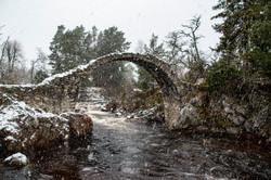 Bridge in a blizzard
