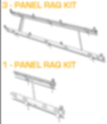 Schematic drawing of a three and one racking mount