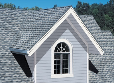 An example of a residential roof