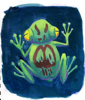 Gouache Frog