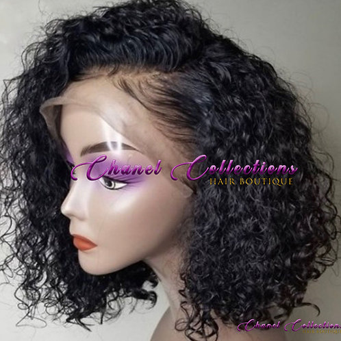 Curly Bob Lace Frontal Wig