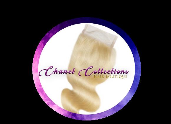 #613 Blonde 4x4 Closure