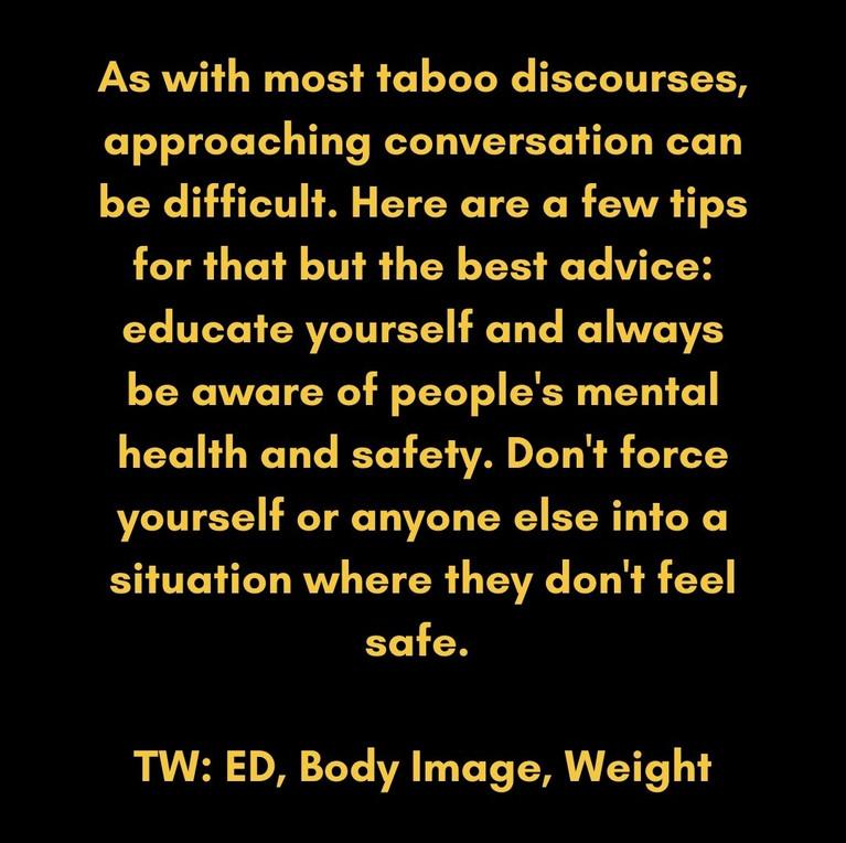 TW: ED, Body Image, Weight