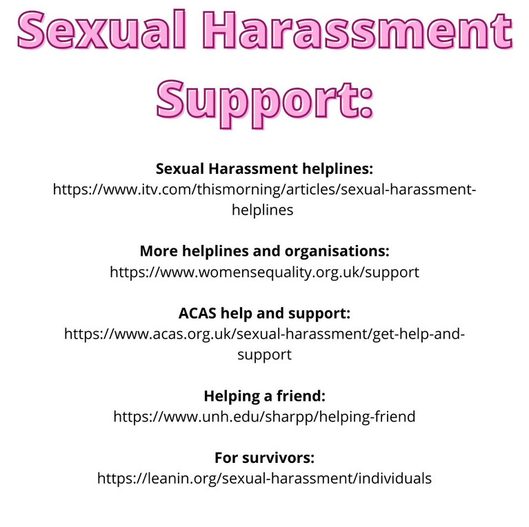 Sexual harassment support