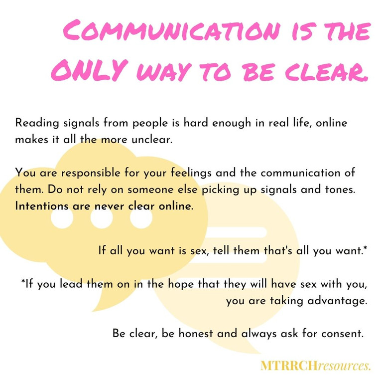 Communication is the only way to be clear