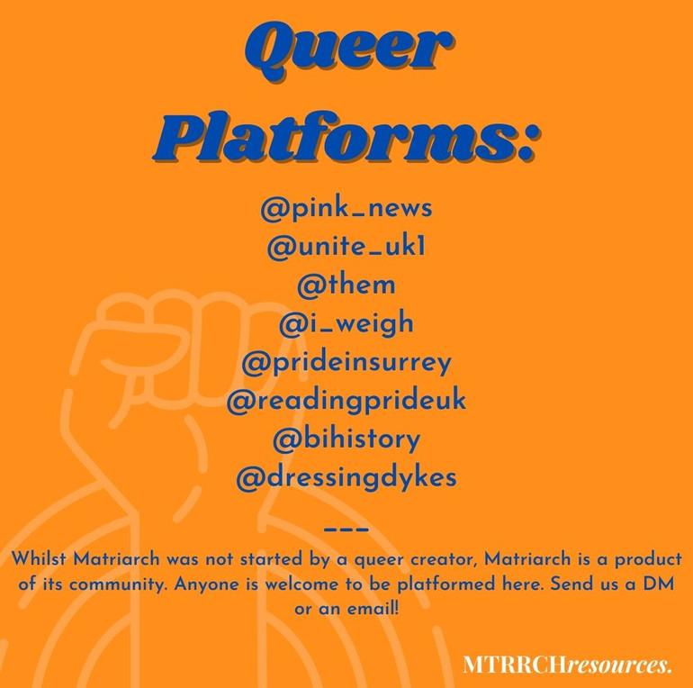Queer platforms