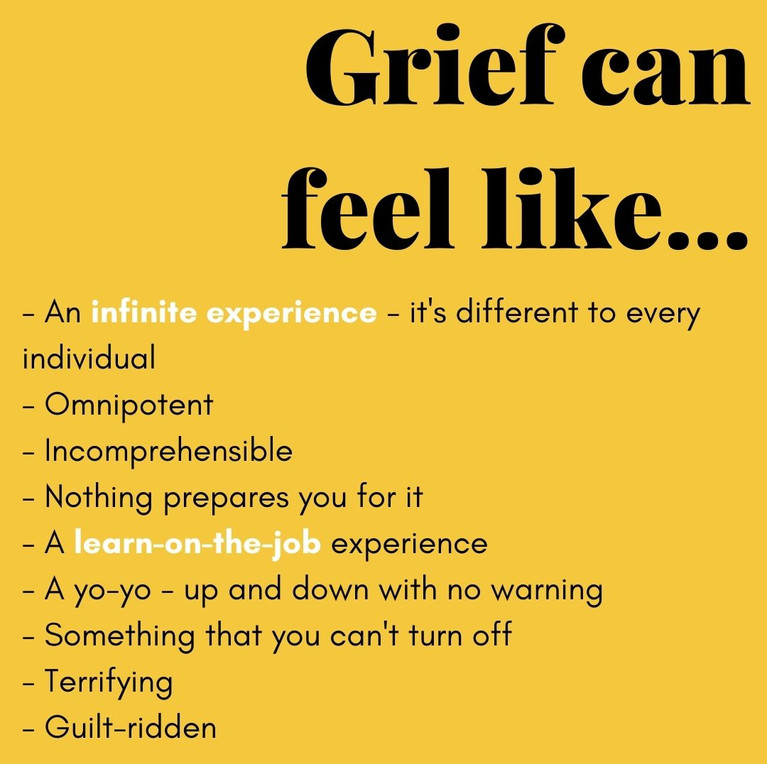 Grief can feel like