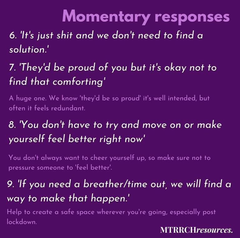 Momentary responses