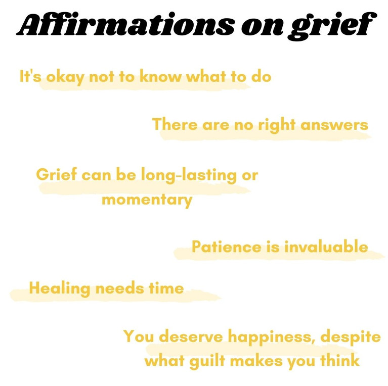 Affirmations on Grief