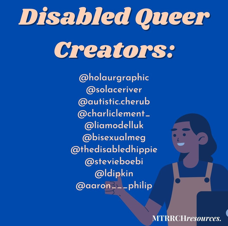 Disabled Queer Creators