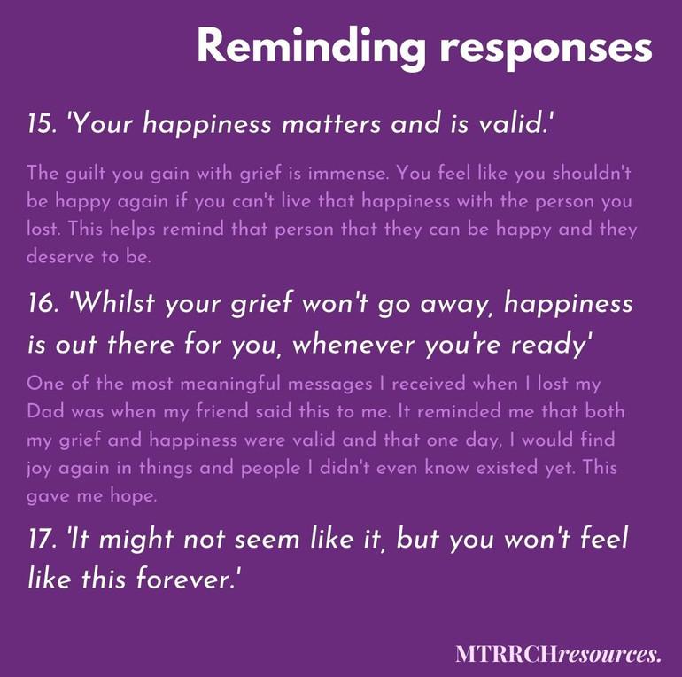 Reminding responses