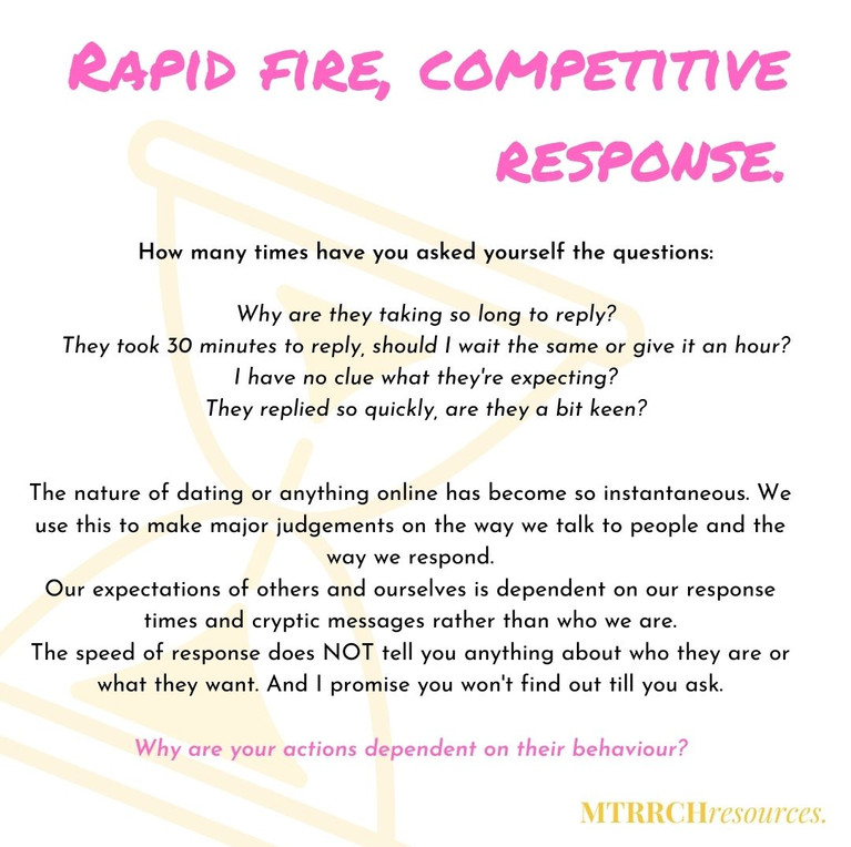 Rapid fire, competitive response