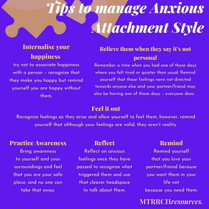 Tips to manage Anxious Attachment Style