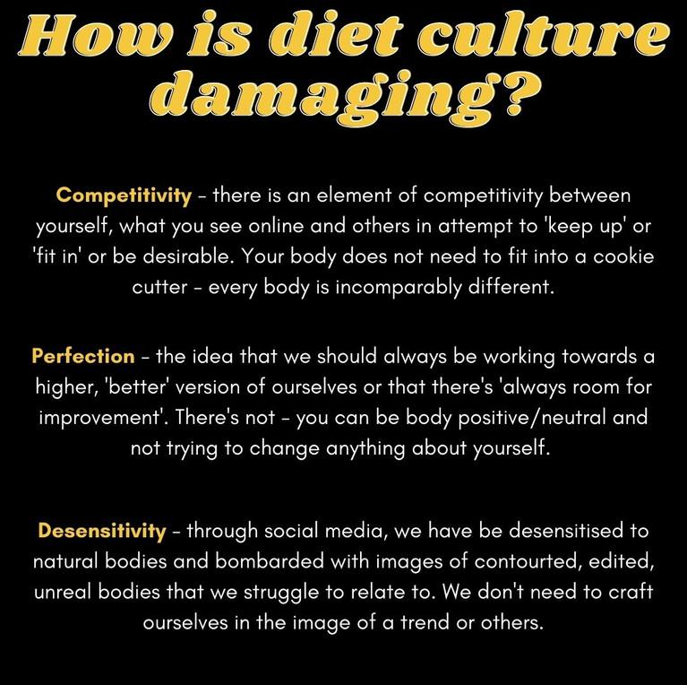 How is diet culture damaging