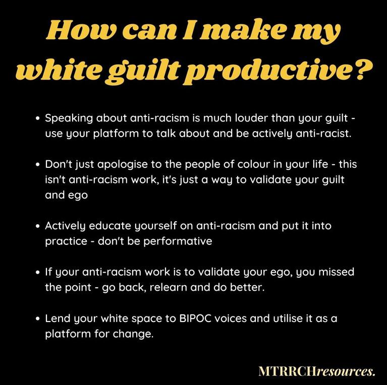 Making White Guilt Productive