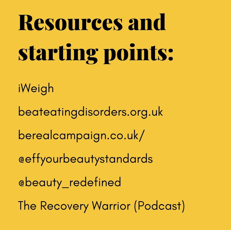Resources and starting points