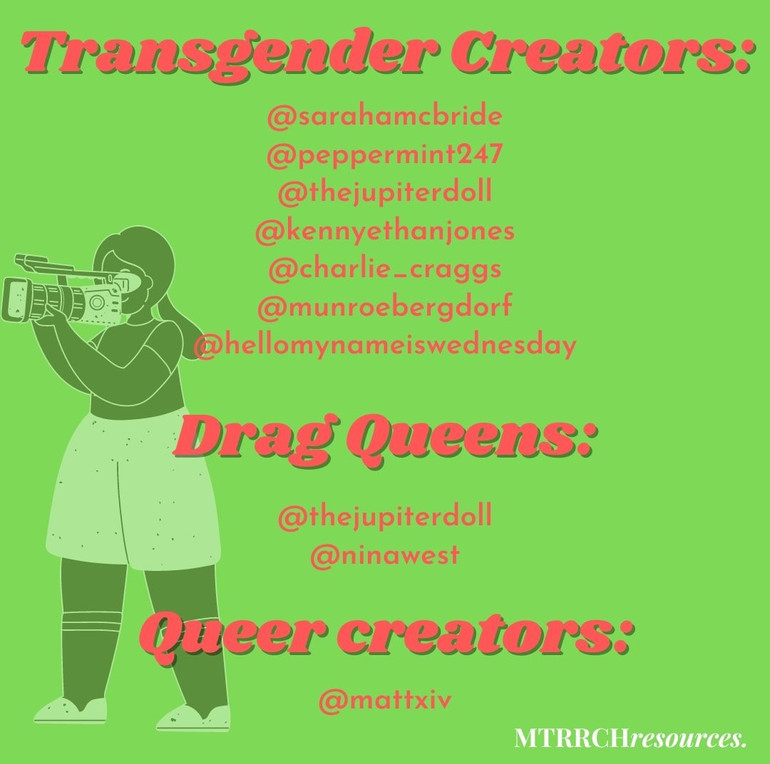 Trans and Queer creators and drag queens