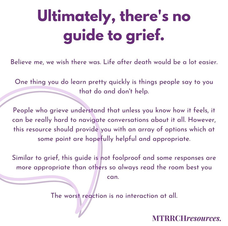 There's no guide to grief