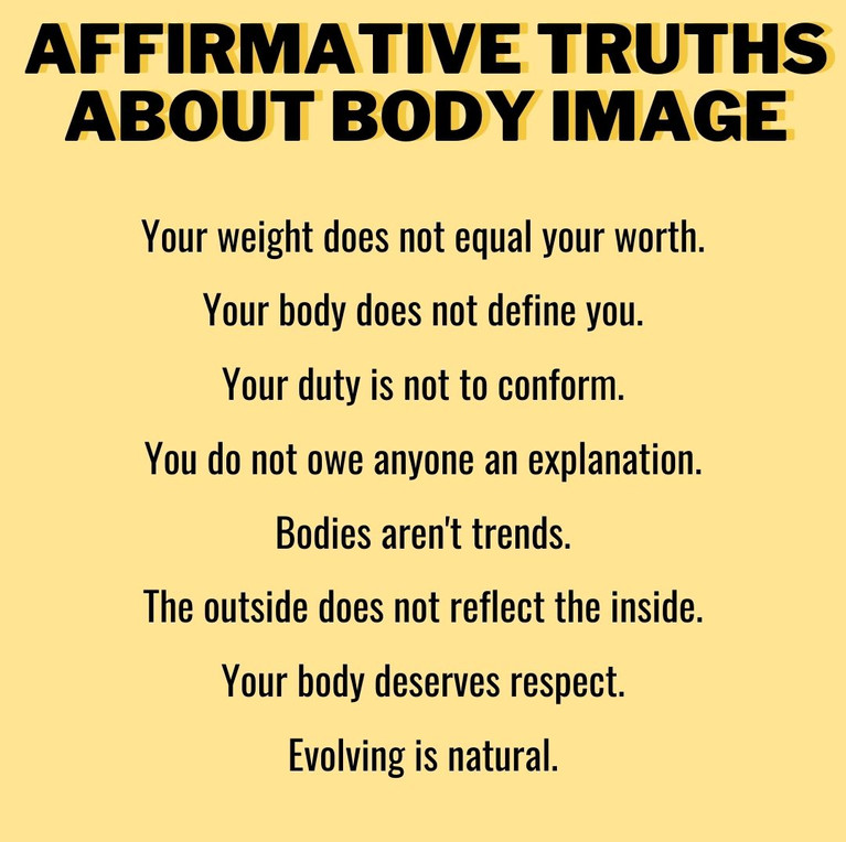 Affirmative truths about body image