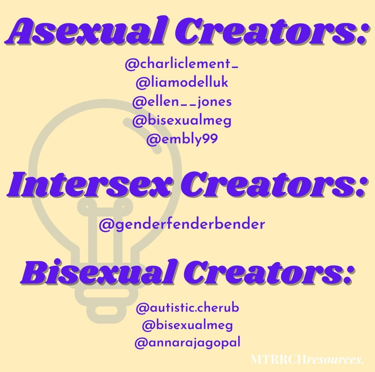 Asexual, Intersect and Bisexual creators