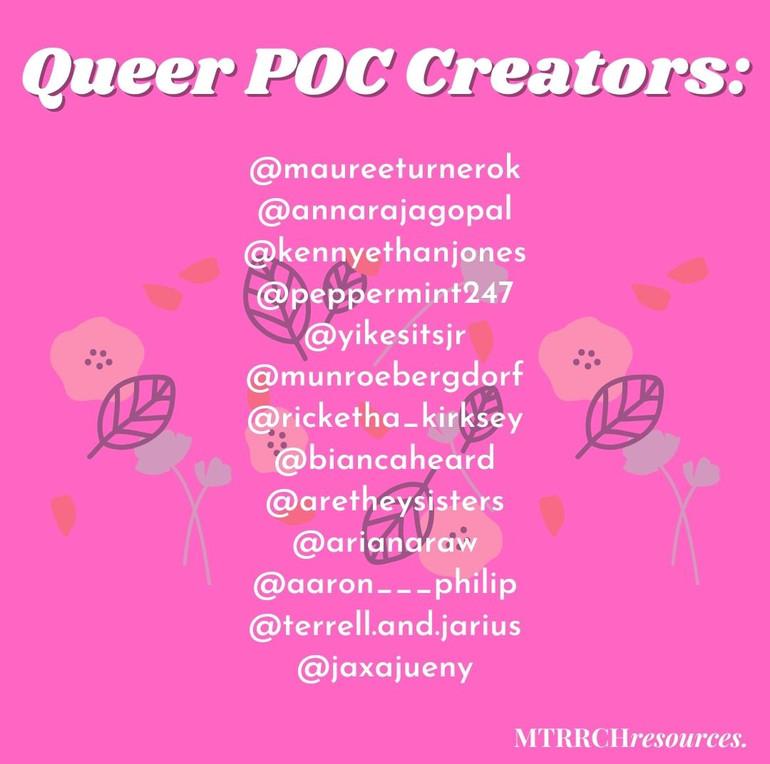 Queer POC creators