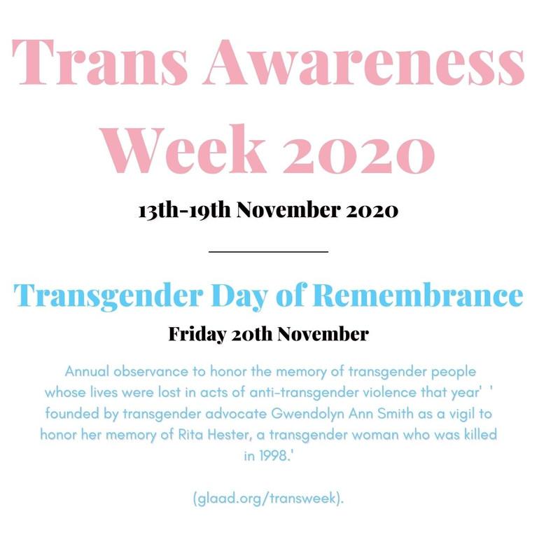 Trans Awareness Week 2020